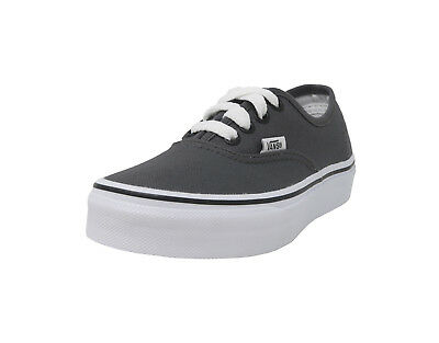 VANS Authentic Pewter Black White Canvas Lace Up Kid Sneaker Girls Boys Shoes