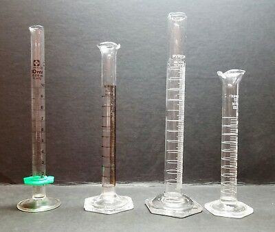 Graduated Cylinders set of 4 - various brands