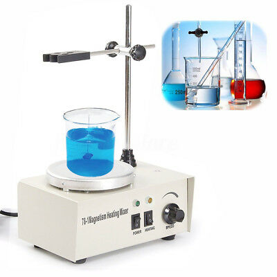 1000ml Laboratory Magnetic Stirrer Mixer Heating Hot Plate Control 2400rpm/min