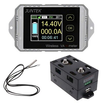 DC 400V 300A Wireless Bi-directional Voltmeter Ammeter Capacity Volt Power Meter