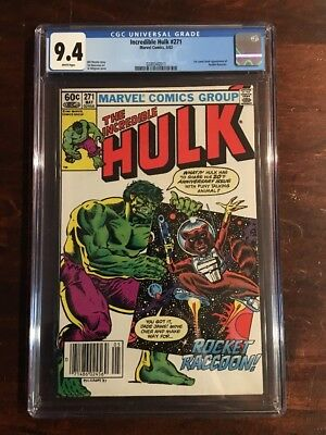 Incredible Hulk #271 Cgc 9.4 White Pages 1St Appearance Of Rocket Raccoon