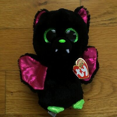 "TY Beanie Boos Igor the Black Bat Stuffed Plush Doll Toy 6"" NWT Halloween a3d5e2d83a5c"