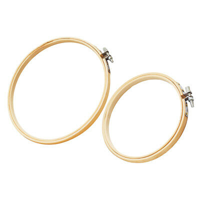 2Pc Frame Hoop Ring Embroidery Cross Stitch Sewing Tool Accessories 3 4 inch