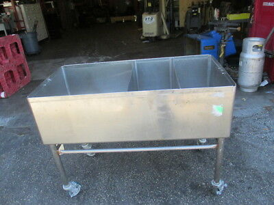"48"" x 24"" 3 Bay Commercial Sink Deep Well 13-1/2"" Deep 24x24 Stainless Steel"