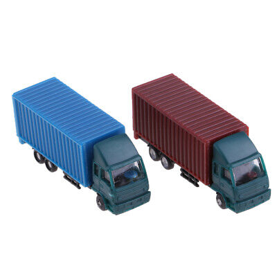 2 Pieces N Scale Container Truck Freight Car Model Toy Kids Christmas Gifts