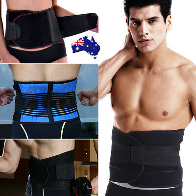 Adjustable Lumbar Lower Back Support Belt Waist Brace Strap Pain Relief For Work
