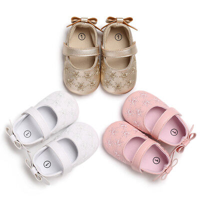AU Soft Sole Baby Girl Shoes Anti-slip Toddler Infant Newborn Prewalker Princess