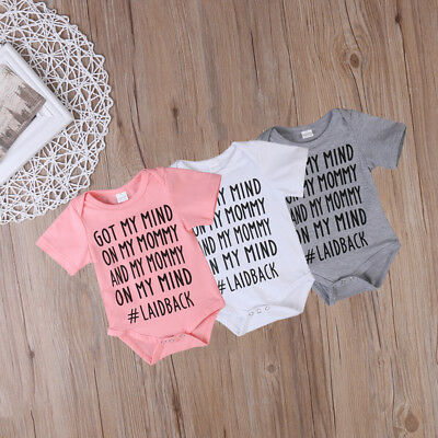 Cotton Baby Boys Girls Unisex Clothes Summer Romper Bodysuit Playsuit Outfits