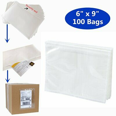 100 packing list pouches 6x9 shipping label enclosed envelopes