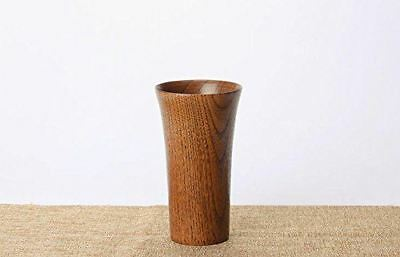 BMTick Small Wooden Vase for Flowers (Dark JuJube Wood) (13.5CM) Gregorian Style