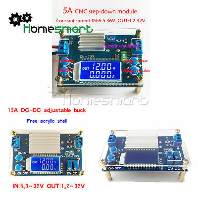 5A 12A buck module constant voltage and current LCD Button set voltage AHS
