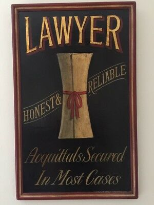 Antique Style Wooden Lawyer Sign