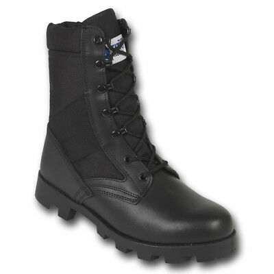 Jungle Patrol Combat Boots Black Army Tactical Military High Leg Leather Nylon