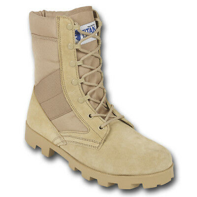 Mens Desert Army Combat Military Tan Work Suede Leather Boot Free Trouser Twists
