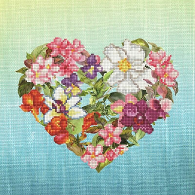Diamond Dotz Embroidery Facet Art Kit, 5D Diamond Art, Intermediate Flower Heart