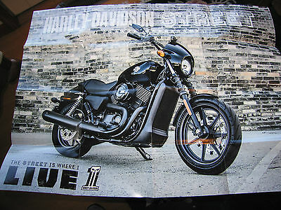 Harley Davidson Street Collectible Poster and Post Card