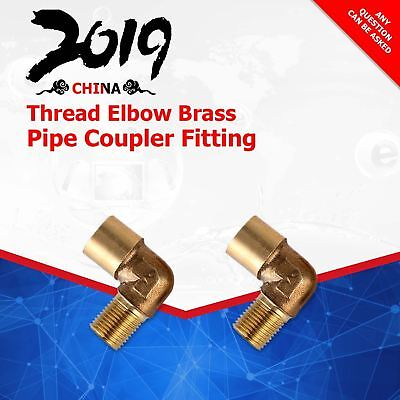 1/4 BSP Male to Female Thread Elbow Brass Pipe Coupler Fitting   2 Pcs