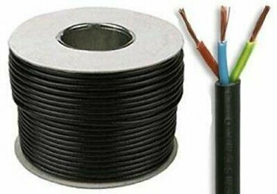 Black Round Flexible Cable 2 3 4 5 Core 0.75mm 1mm 1.5mm 2.5mm Flex Eelctric