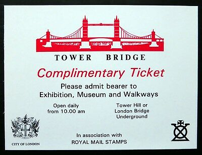 Pair of Complementary Tickets to Tower Bridge PLEASE SEE TYPED NOTE NJ311