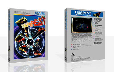 Tempest Atari 5200 Replacement Spare Game Case Box + Cover Art Work (No Game)