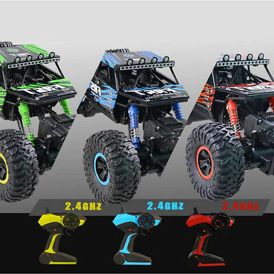 4WD RC Monster Truck Off-Road Vehicle 2.4G Remote Control Buggy Crawler Car LI