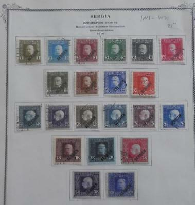 Serbia 1N1 - 1N21 Used  Set  No Faults Very Fine