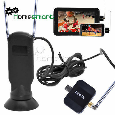 Android Phone PAD Dongle DVB-T2 Receiver Stick HD Digital Live TV Tuner AHS