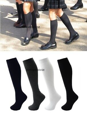 School Uniform Girls Socks Knee High Bow School Socks Plain Knee High Socks
