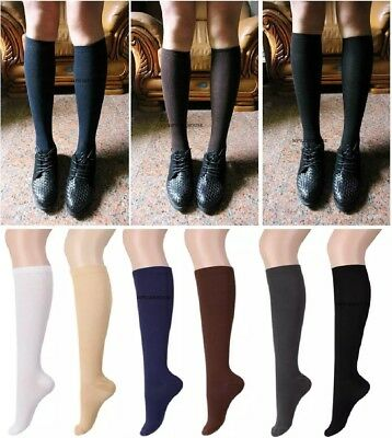 12 Pairs Girls School Socks Cotton School Uniform Socks Knee High Bow Socks