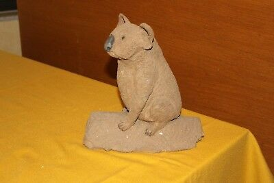 Original Koala ceramic sculpture, one-of-a-kind signed by MWall; $Reduced!