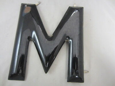 "Black Porcelain Letter ""M"" 8 inches tall"