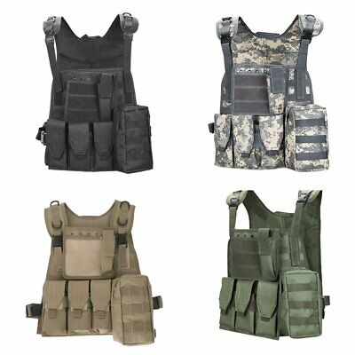 Waistcoat SWAT Tactical Military Airsoft Molle Combat Plate Carrier Vest JLY