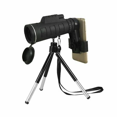 40X60 Monocular Telescope Night Vision Prism Scope With Phone Clip Tripod EC