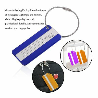 Metal Luggage Tag Suitcase Tag Fashion Aluminum Alloy Suitcase Label Tag EC