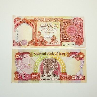 Iraqi Dinar 25,000 Uncirculated Note! Authentic! IQD