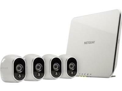 NETGEAR Arlo Smart Home Security Camera System - 4 HD, 100% Wire-Free, Indoor /