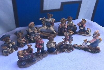 Lot Of 9 Boyd's Bears & Friends, The Bearstone Collection Some Special Edition