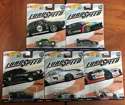 New Hot Wheels Car Culture Euro Speed C Case Set Of 5 Cars Fpy86