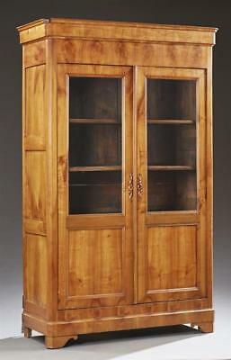 Louis Philippe Style Carved Cherry Bookcase, c. 1880, the ogee crown ... Lot 371