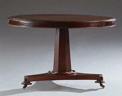 English Carved Mahogany Breakfront Table, c. 1900, the circular top w... Lot 418