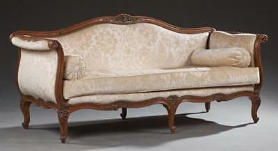 French Carved Walnut Louis XV Style Settee, early 20th c., the serpent... Lot 33
