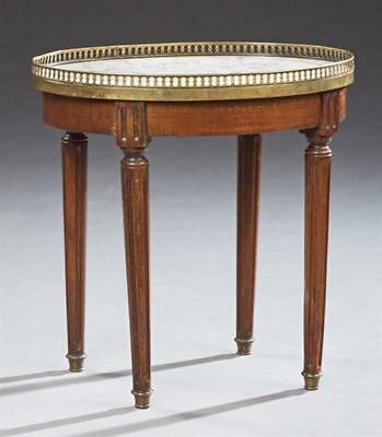 French Louis XVI Style Diminutive Circular Marble Top Side Table, c. ... Lot 631