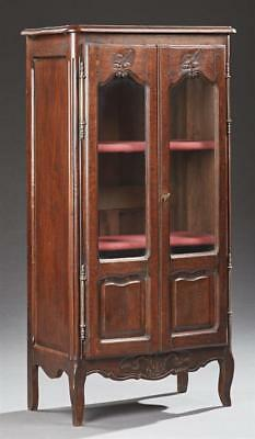 Diminutive Carved Oak Bookcase, early 20th c., the rounded edge and co... Lot 40