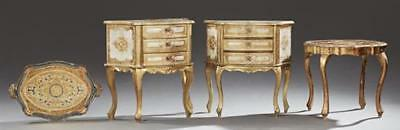 Four Gilt Florentine Pieces, 20th c., consisting of a pair of Louis X... Lot 584