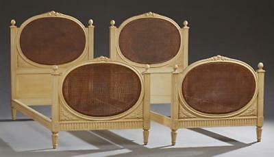 Pair of French Louis XVI Style Polychromed Beech Day Beds, 20th c., t... Lot 689