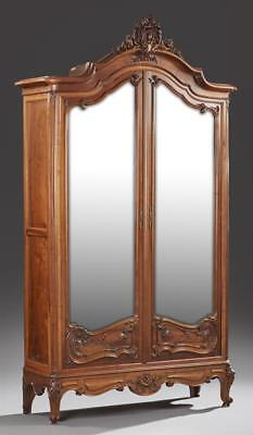 Exceptional French Louis XV Style Well Carved Walnut Seven Piece Bedr... Lot 802