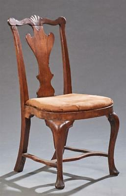 Irish Carved Mahogany Side Chair, late 18th c., the serpentine shell ... Lot 872