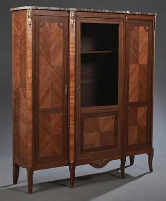 Louis XVI Style Diminutive Inlaid Mahogany Bookcase, 20th c., the bre... Lot 746