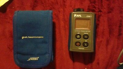 AFL Noyes CSM1 SM Mm Fiber Optic Power Meter CSM1-2 w/ Pouch