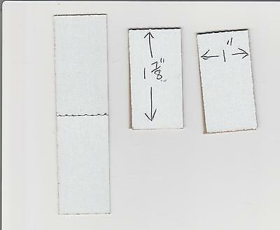 "300 - 1"" x 1 7/8"" Cardboard Stamp Folders For Stamp Machines"